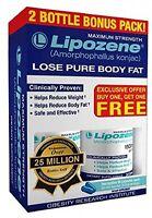 60 Lipozene Diet Pills - Max Strength Fat Loss - 1500mg , Weight Loss Safe Fiber
