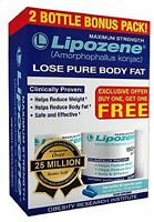 60 Lipozene Diet Pills - Max Strength Fat Loss - 1500mg , Weight Loss Safe Fiber