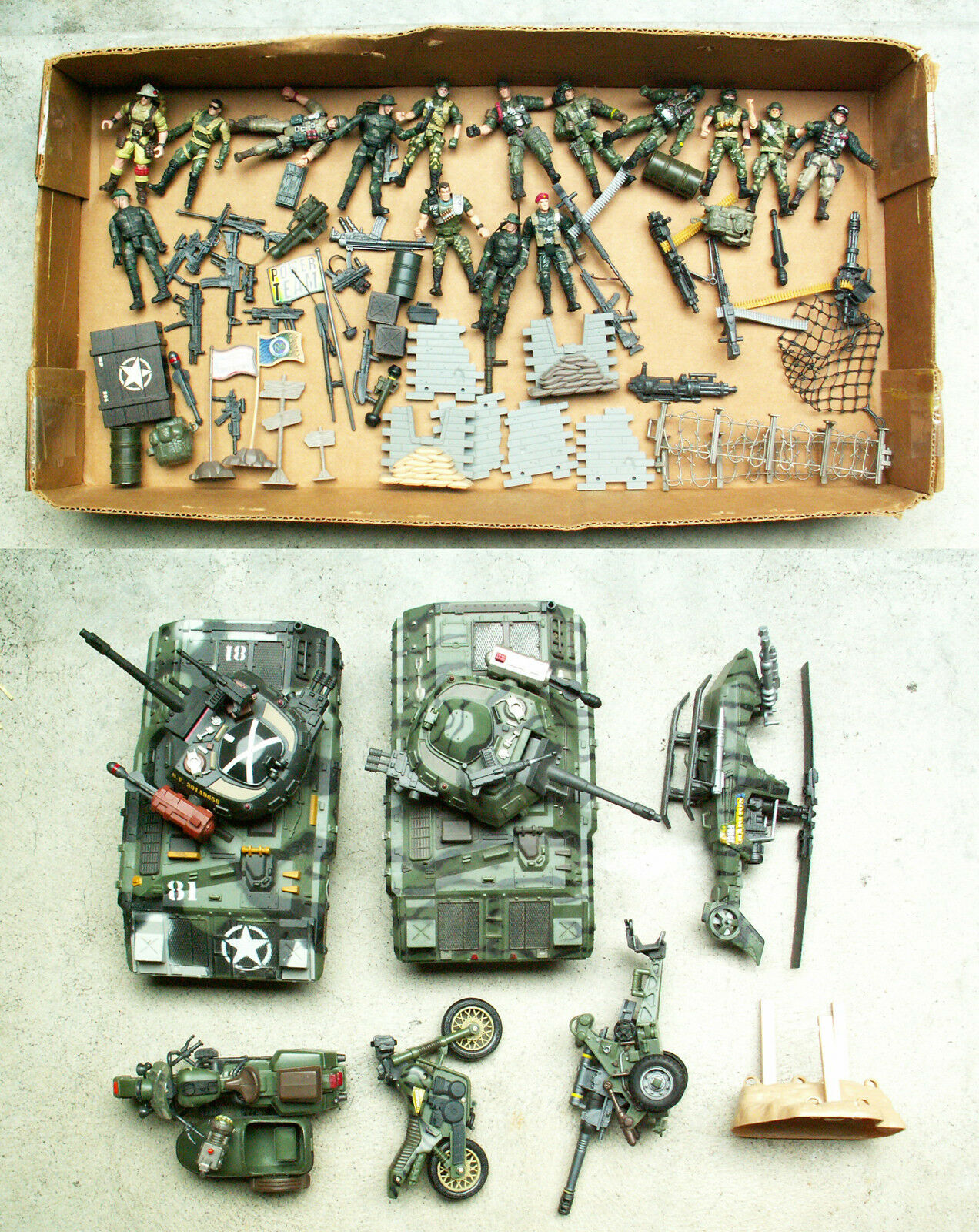 CHAP MEI SOLDIER FORCE PLAYSET BATTLE TANK Helicopter LOT Action Figure Rare ""