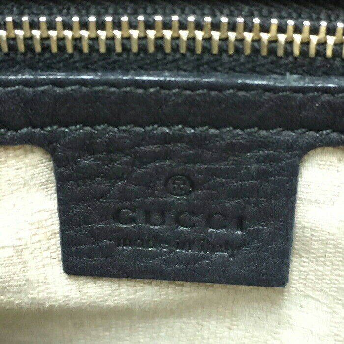 Auth GUCCI DIANA banboo Hand Bag 308360 Black - image 7