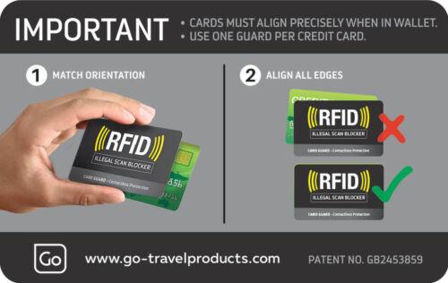 Ref 688 Go Voyage Carte de gardes-RFID blocking Protector-Réduit Le Vol d/'identité