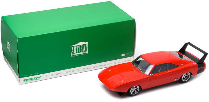 1 18 Artisan Collection 1969 Dodge Charger Daytona personalizados Rojo Con Negro