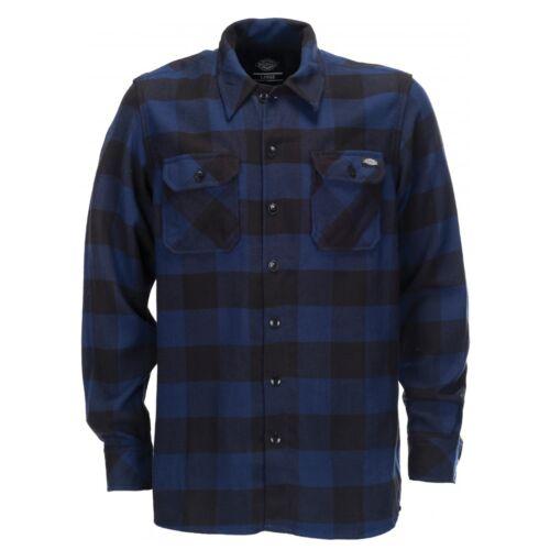 Dickies Camicia A Sacramento Blue Holzfeller Camicie A Scacchi Blu Uomo