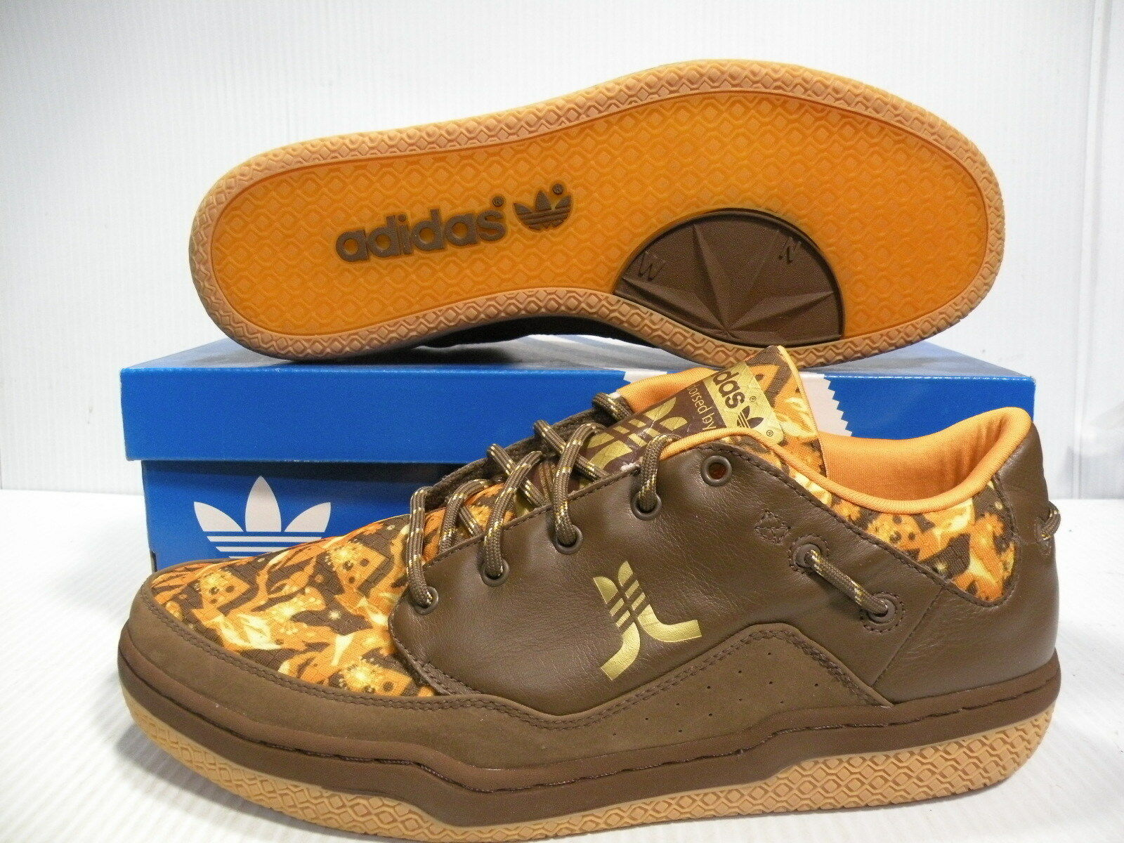 ADIDAS WESC COLLABORATION LOW 791001 SNEAKERS MEN SHOES BROWN 791001 LOW SIZE 12.5 NEW IN 39bed6