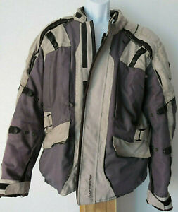 vtg-MEN-039-s-GRAY-TOURMASTER-MOTORCYCLE-JACKET-Large-Transition-4-Full-Zipper-grey