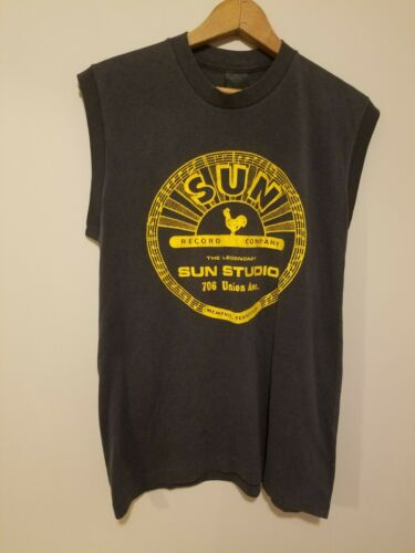 Vintage 1980s Sun Records Sleevless T Shirt Johnny