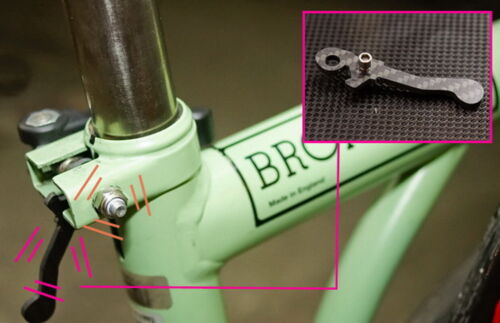 Carbon fiber titanium stem handlepost catch hook buckle fork catcher fr Brompton