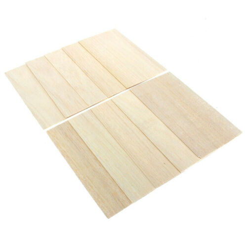 Wood Sheets Wooden Plate Model Balsa DIY House Aircraft 1mm~8mm Thick 300x100mm