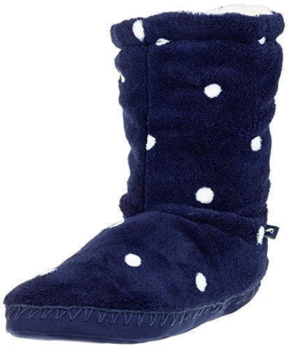 Joules Homestead Navy Spot Polaire Chaussons Pantoufles Disponible en S M /& L