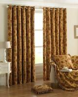 90 X 90 Drop Heavy Weight Chenille Tapestry Eyelet Curtain Pair Period Style