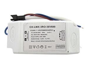 Paquete-de-energia-Controlador-Led-CC-580mA-21-35VDC-9-10X2W-Transformador
