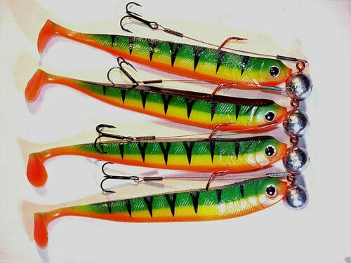 Esca preferita Firetiger con Stinger /& RONDINE 3//0 14g GOMMA esca persico-luccio-Spigola
