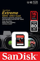 Sandisk Extreme Plus 16gb Sdhc 80 Mb/s 533x Uhs-1 Sd Class 10 Memory Card 16 Gb