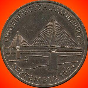 1974-Germany-Hamburg-Bridge-Commemorative-Coin-Token-13-6-Grams-34mm