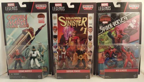 Set of 3 Marvel Legends Comic Book~COSMICMARVELS~WEB SLINGERS~SUPREME POWERS~