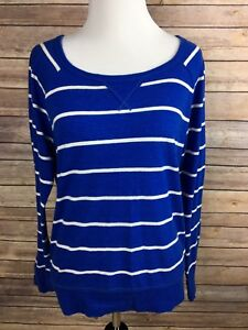 Hollister-California-women-039-s-long-sleeved-Stripped-t-shirt-size-L-Black-White