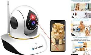 Pet Camera,  Cat Camera with Laser Wireless Cat Camera 1080P Baby Monitor