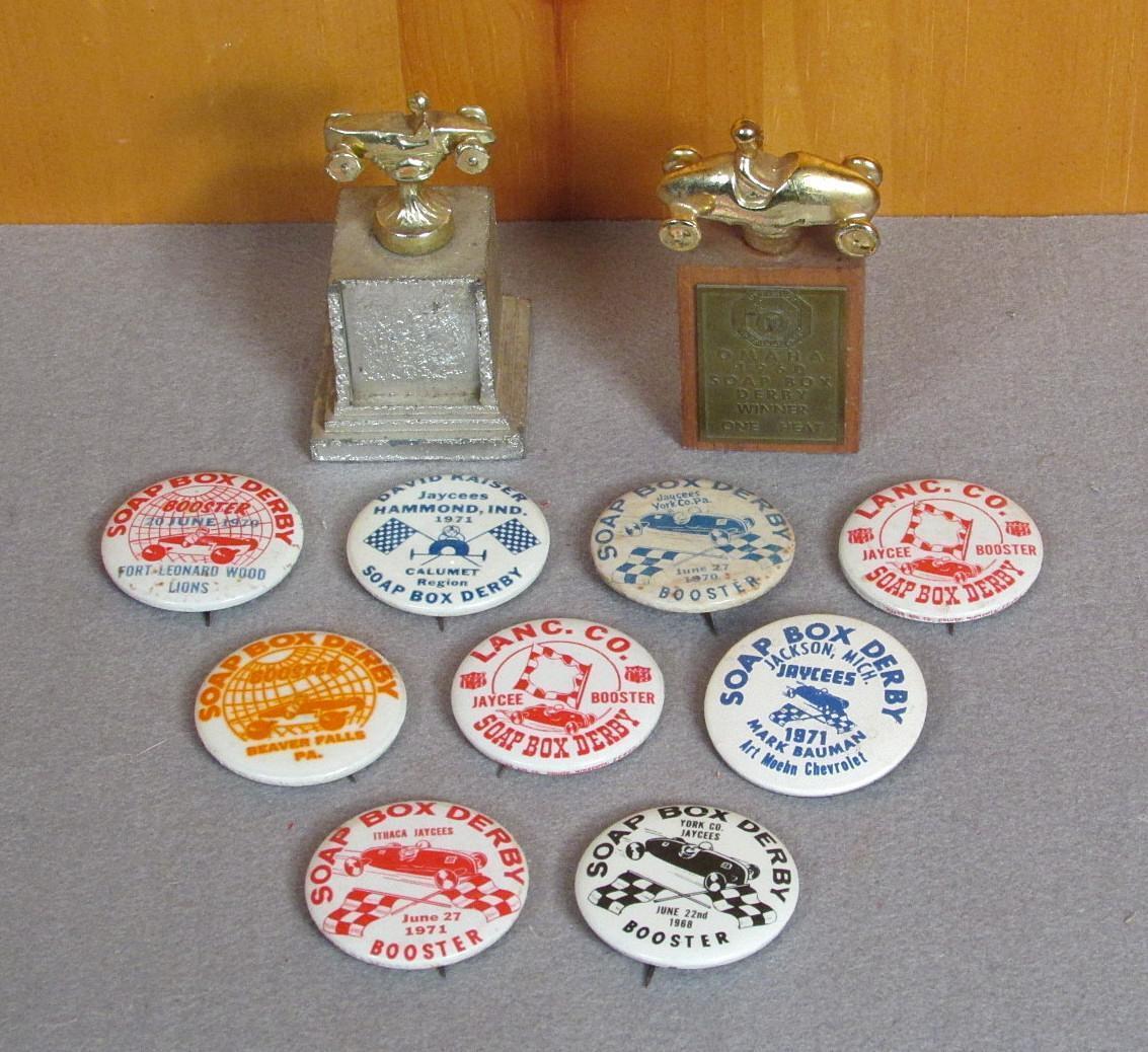 Vintage Portasapone Derby Gruppo di da Collezione Gara Perni & Trofeo Premi