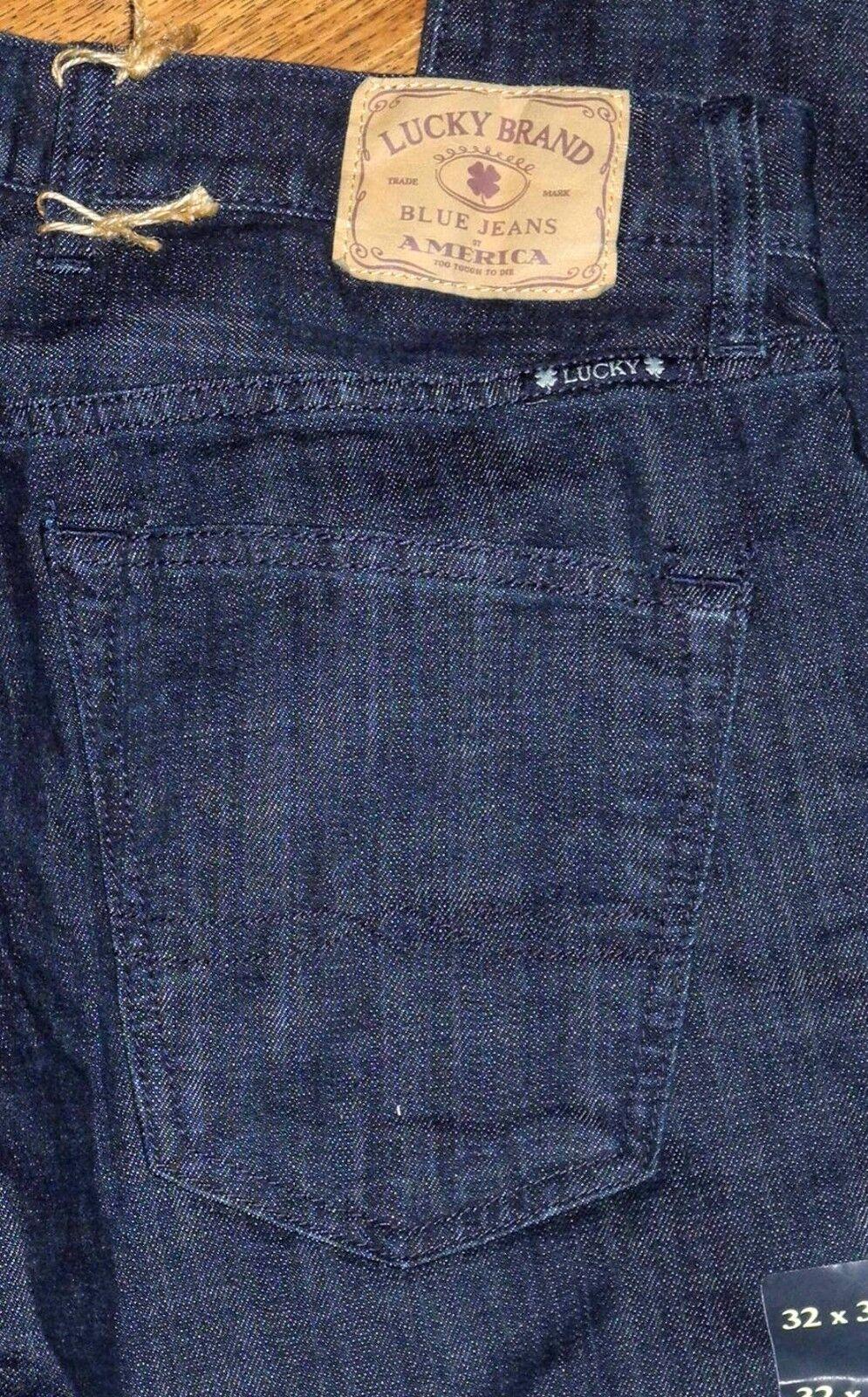 Neu Lucky Brand 121 Heritage Enge Passform Bein Bein Bein Herren Dunkelblau Jeans Sz 32x30 4ced09