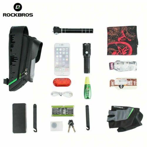 RockBros Bike Top Tube Phone Bag Waterproof Touch Screen Cell Phone Holder Black