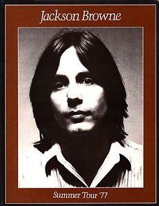 JACKSON-BROWNE-1977-RUNNING-ON-EMPTY-SUMMER-TOUR-CONCERT-PROGRAM-NM-2-MNT