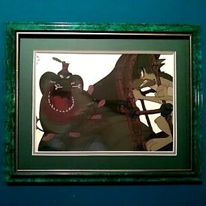 CHARLIE AND KING GATOR BLUTH STUDIOS PRODUCTION CEL,ALL DOGS GO TO HEAVEN,FRAMED