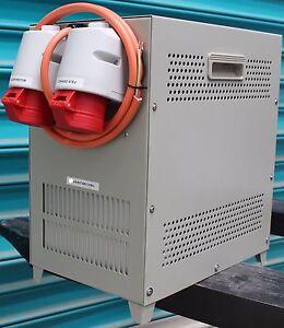 4kW (5KVA), Rotary phase converter 240V Single Phase to Three Phase 415V