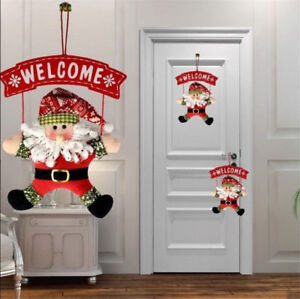 Santa-Claus-Snowman-Door-Hanging-Christmas-Tree-Home-Decor-Ornaments-Xmas-Gift