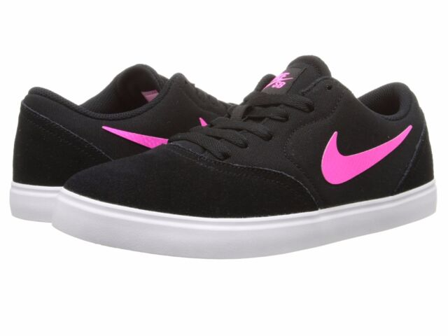 Reparador Fanático Selección conjunta  705266-061 Girls Nike SB Check Skateboard (GS) Black/Pink Pow Sizes 4-7 NIB  for sale online
