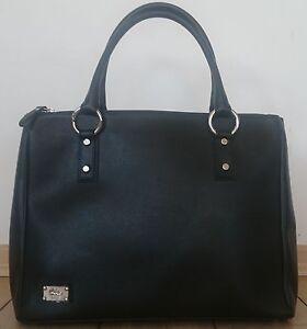 Image Is Loading Jenrigo Italy Saffiano Leather Womens Handbag Large Black