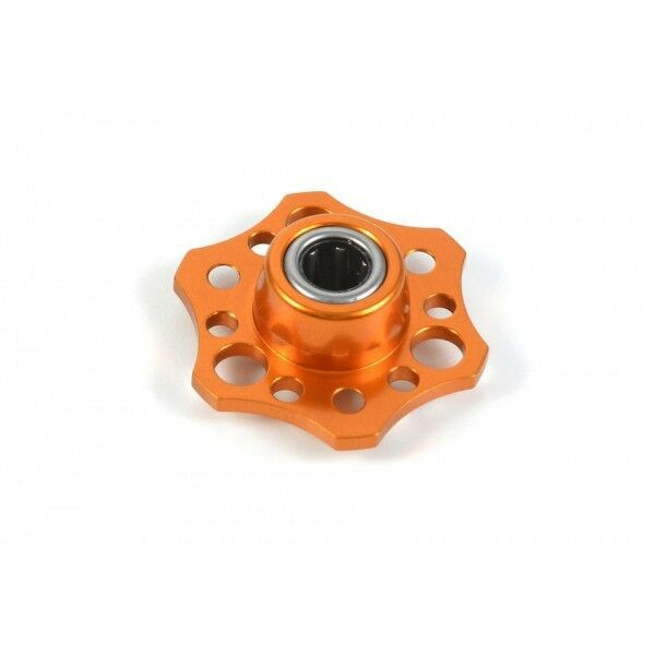 LIGHTWEIGHT DRIVE FLANGE WITH ONE-WAY orsoING  - ALU 7075 T6 - arancia  perfezionare
