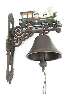 Muro campana el timbre tren locomotora máquina de vapor metal barco campana gartendeko  </span>