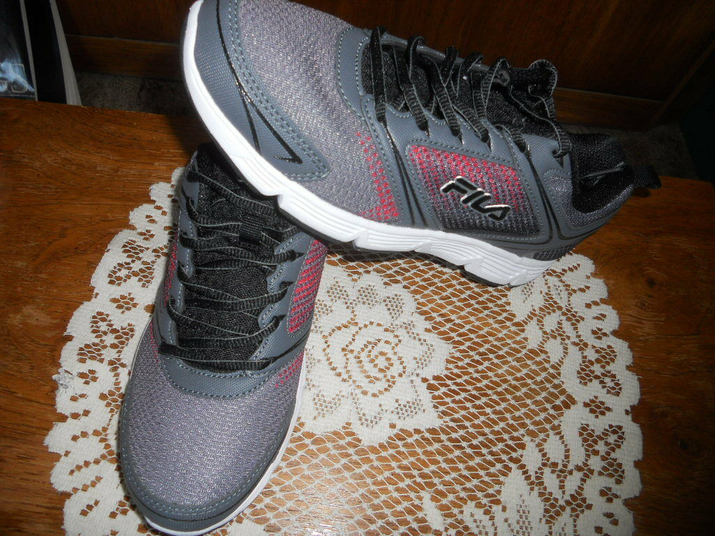 Mens Fila Vector Grey Tennis Athletic Running Shoes Comfortable Comfortable and good-looking