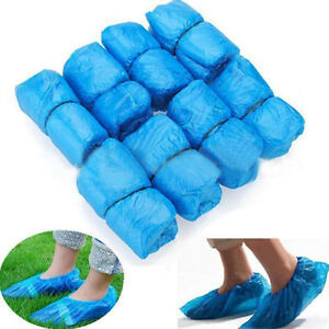 100 pcs Plastic Disposable Shoe Boot Cover Carpet Floor Protection Cleaning
