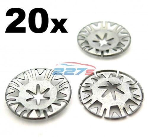 20x Volkswagen Metal Locking Star Washers VW Underbody Heat Shield Fasteners