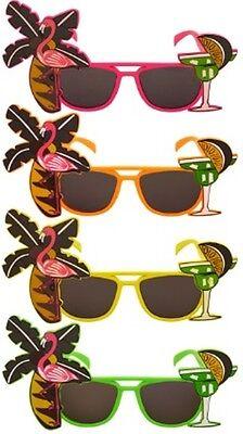 Disfraz Flamenco Gafas Tropicales Hawaianas Hula Fiesta Playa Av En 4 Colores