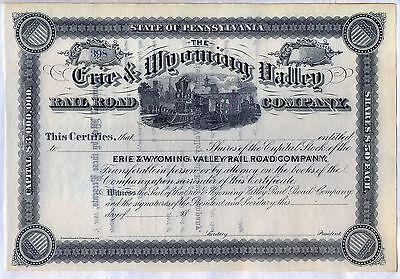 Republican Valley Railroad Company Stock Certificate Burlington /& Missouri River