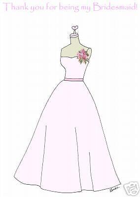 Thank you bridesmaid  /& flower girl cards   wedding 4