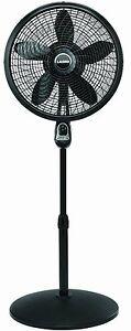 NEW Lasko 1843 18-Inch Remote Control Cyclone Pedestal Fan Black Portable
