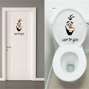 Olaf-Frozen-Disney-style-Let-it-Go-Toilet-Seat-Wall-Sticker-Vinyl-Decal-Funny-XY