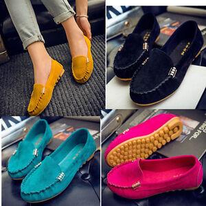 Moda-Mujer-Loafers-Zapatos-Mocasines-Planos-Antideslizamiento-Ballet-Bailarinas