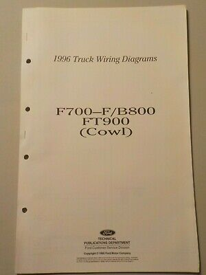 1992 Ford F600 F800 Cowl Wiring Diagram Schematic Service Manual Rg413