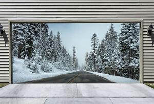 3D-Tree-Snow-727-Garage-Door-Murals-Wall-Print-Decal-Wall-AJ-WALLPAPER-AU-Carly
