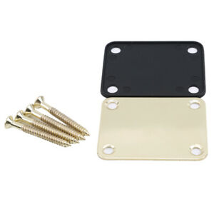 Electric Guitar Neck Plate Neck Plate Fix Tele Telecaster Guitar Gold