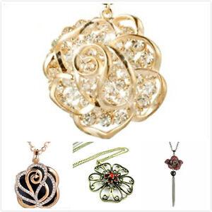 Art-Deco-estilo-flor-rosa-collar-varias-opciones