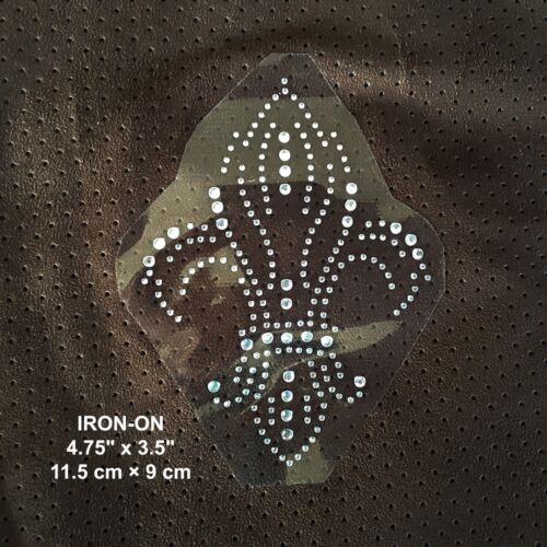 "Horse Head 6/""//15cm Rhinestones Iron on Hot Fix transfer Applique Bling Patch"