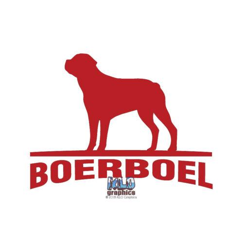 Boerboel Vinyl Sticker AKC registered Breed Dog South Africa