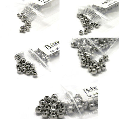 Big 100 Stainless Surgical Steel Flat Spacer Disc Rondelle Jewelry Beads Small