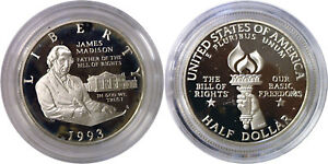 1993-S 50c Bill of Rights Modern Commemorative Silver Half Dollar Proof