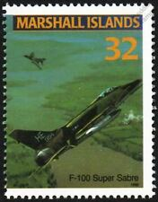 USAF North American Aviation F-100 SUPER SABRE Jet Aircraft Mint Stamp